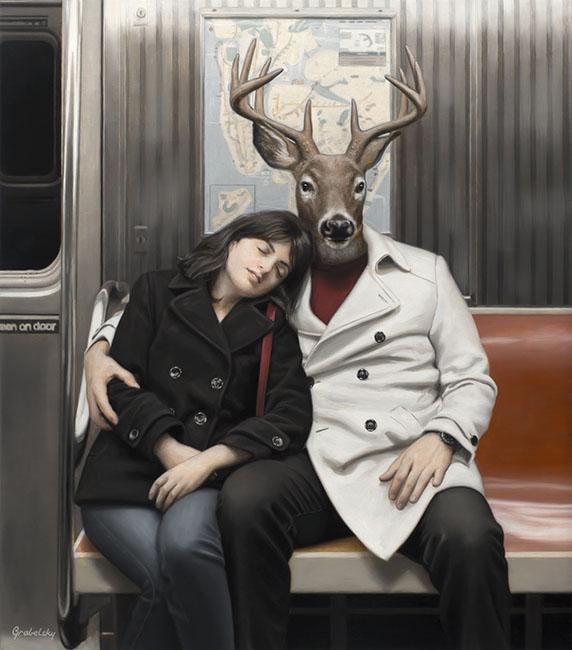 Мэтью Грабелски. Звериный гиперреализм из метро.